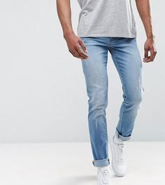 Узкие джинсы с рваной отделкой Loyalty and Faith TALL-Синий