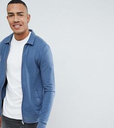 Синяя обтягивающая куртка Харрингтон из меланжевого трикотажа ASOS DESIGN organic Tall-Темно-синий