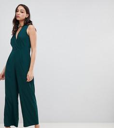 Комбинезон с запахом Vero Moda Tall-Зеленый