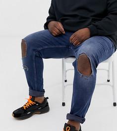 Синие рваные джинсы скинни ASOS DESIGN Plus-Синий
