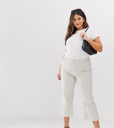 Укороченные расклешенные джинсы ASOS DESIGN Curve Egerton-Коричневый