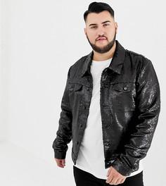 Черная куртка в стиле вестерн с пайетками ASOS DESIGN Plus-Черный