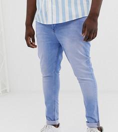 Светлые супероблегающие джинсы ASOS DESIGN Plus-Синий