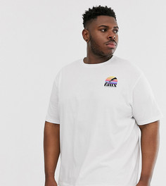 Пляжная футболка с принтом Friend or Faux Plus-Белый