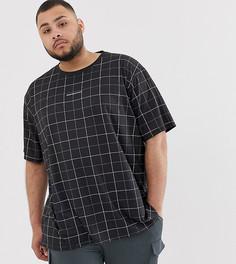 Oversize-футболка в клетку Good For Nothing-Черный
