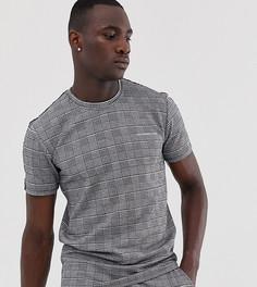 Oversize-футболка в клетку Good For Nothing-Серый