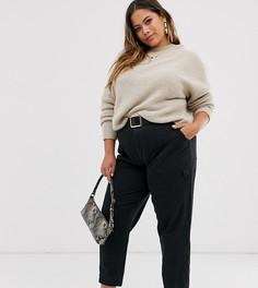 Черные брюки в стиле милитари ASOS DESIGN Curve-Черный