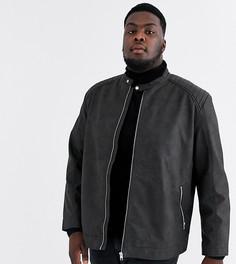 Черная куртка из искусственной кожи Jack & Jones Originals-Черный