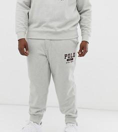 Серые флисовые джоггеры с логотипом Ralph Lauren Big & Tall 1967-Серый