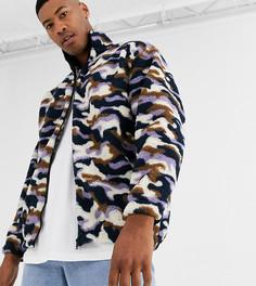 Плюшевая куртка с принтом ASOS DESIGN Tall-Мульти