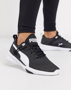 Черно-белые кроссовки Puma AURA XT performance-Черный