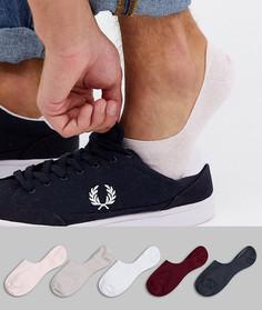 Набор из 5 пар однотонных невидимых носков ASOS DESIGN - Скидка-Мульти