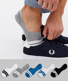 Набор из 5 пар невидимых носков синего, серого и белого цвета ASOS DESIGN - Скидка-Мульти