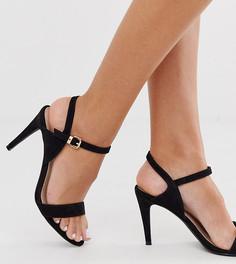 Босоножки для широкой стопы на среднем каблуке Miss KG-Черный