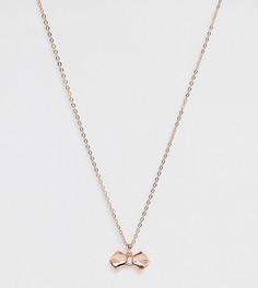 Позолоченное ожерелье с бантиком Ted Baker-Золотой