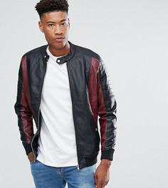 Куртка из искусственной кожи Barneys Originals TALL-Черный