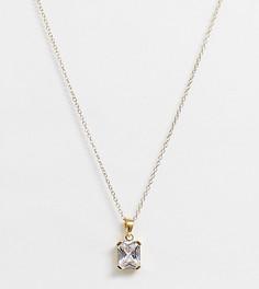 Ожерелье из позолоченного серебра ASOS DESIGN-Золотой