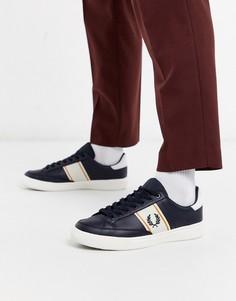 Темно-синие кожаные кроссовки Fred Perry B3-Темно-синий