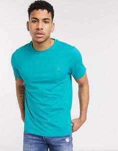 Меланжевая обтягивающая футболка Farah-Зеленый