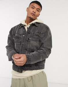 Серая джинсовая куртка с карманами Liquor N Poker-Серый