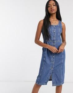 Синий джинсовый сарафан на пуговицах Levis