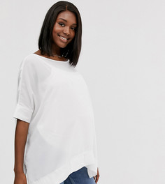 Оversize-футболка с V-образным вырезом на спине ASOS DESIGN Maternity-Белый