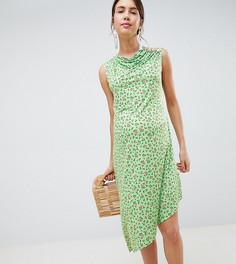 Платье миди с цветочным принтом и пуговицами ASOS DESIGN Maternity-Мульти