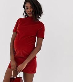 Вельветовое платье мини ASOS DESIGN Maternity-Черный