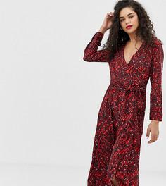 Платье миди с запахом Vero Moda Tall-Темно-синий
