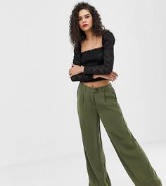 Зеленые широкие брюки Vero Moda Tall-Зеленый