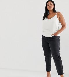Черные выбеленные узкие джинсы в винтажном стиле ASOS DESIGN Curve - Farleigh-Черный