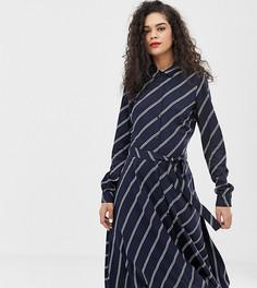Платье-рубашка в диагональную полоску Vero Moda Tall-Темно-синий