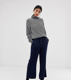 Темно-синие расклешенные брюки в стиле милитари Vero Moda Tall-Темно-синий