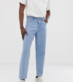 Светлые зауженные джинсы ASOS WHITE Tall - 14 унц-Синий