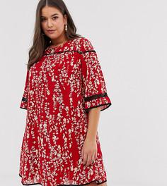 Платье с контрастной отделкой Lovedrobe-Мульти