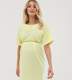 Платье мини ASOS DESIGN Maternity-Желтый