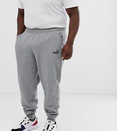 Серые джоггеры скинни Puma - PLUS Essentials-Серый
