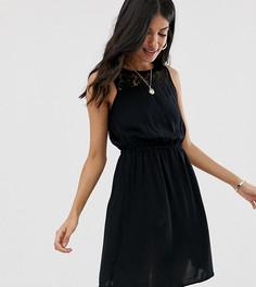 Платье с кружевной вставкой Vero Moda Tall-Черный