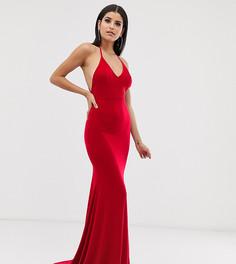 Красное платье макси с годе Club L London Tall-Красный