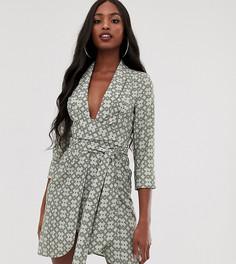 Платье-смокинг мини с принтом ASOS DESIGN Tall-Мульти