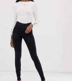 Черные джинсы скинни с завышенной талией Vero Moda Tall-Черный