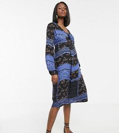 Платье с запахом и принтом пейсли Mamalicious-Мульти Mama.Licious