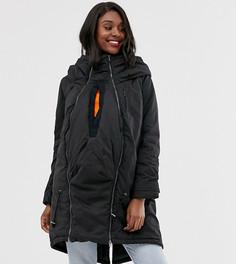 Черная дутая куртка 3 в 1 Mamalicious maternity-Черный Mama.Licious