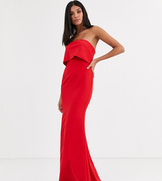 Красное платье макси с асимметричной юбкой Jarlo Tall-Красный