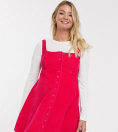 Вельветовое платье без рукавов малинового цвета ASOS DESIGN Maternity-Розовый