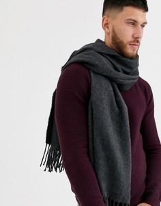 Темно-серый шарф-накидка ASOS DESIGN