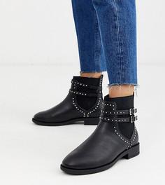 Ботинки челси для широкой стопы с заклепками Miss KG-Черный