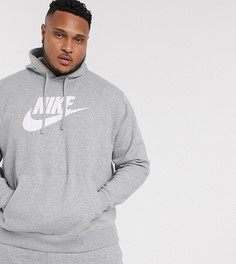 Темно-синее худи Nike Plus Club-Серый