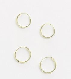 Эксклюзивный набор серег-колец из позолоченного серебра Kingsley Ryan-Золотой