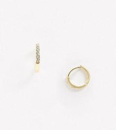 Позолоченные серьги-кольца со стразами House of Freedom by Topshop-Золотой